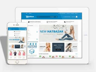 NewHatBazar eCommerce website
