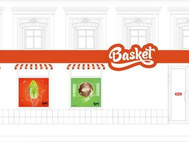 Corporate identity for the store Basket