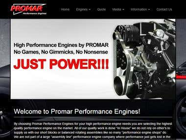 Promar Performance Engines - Website Development