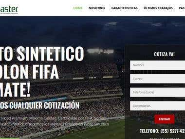 Responsive website http://www.pasto-sintetico.com/