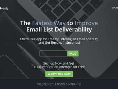 Email verification website