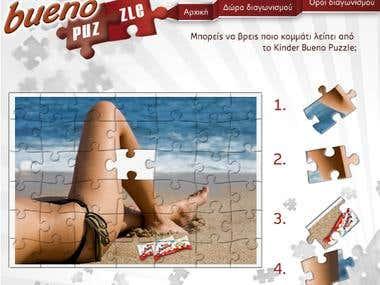 Kinder Bueno Greece - Puzzle Facebook Application