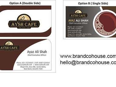 Branding Solutions for Aysh Cafe