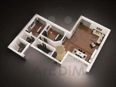 001 - 3D Floor Plan