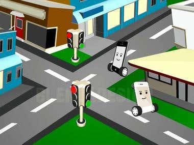 Aussie Mobile Phones Series 3D Cartoon