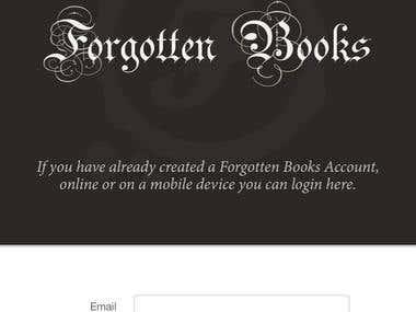 Forgotten Books App
