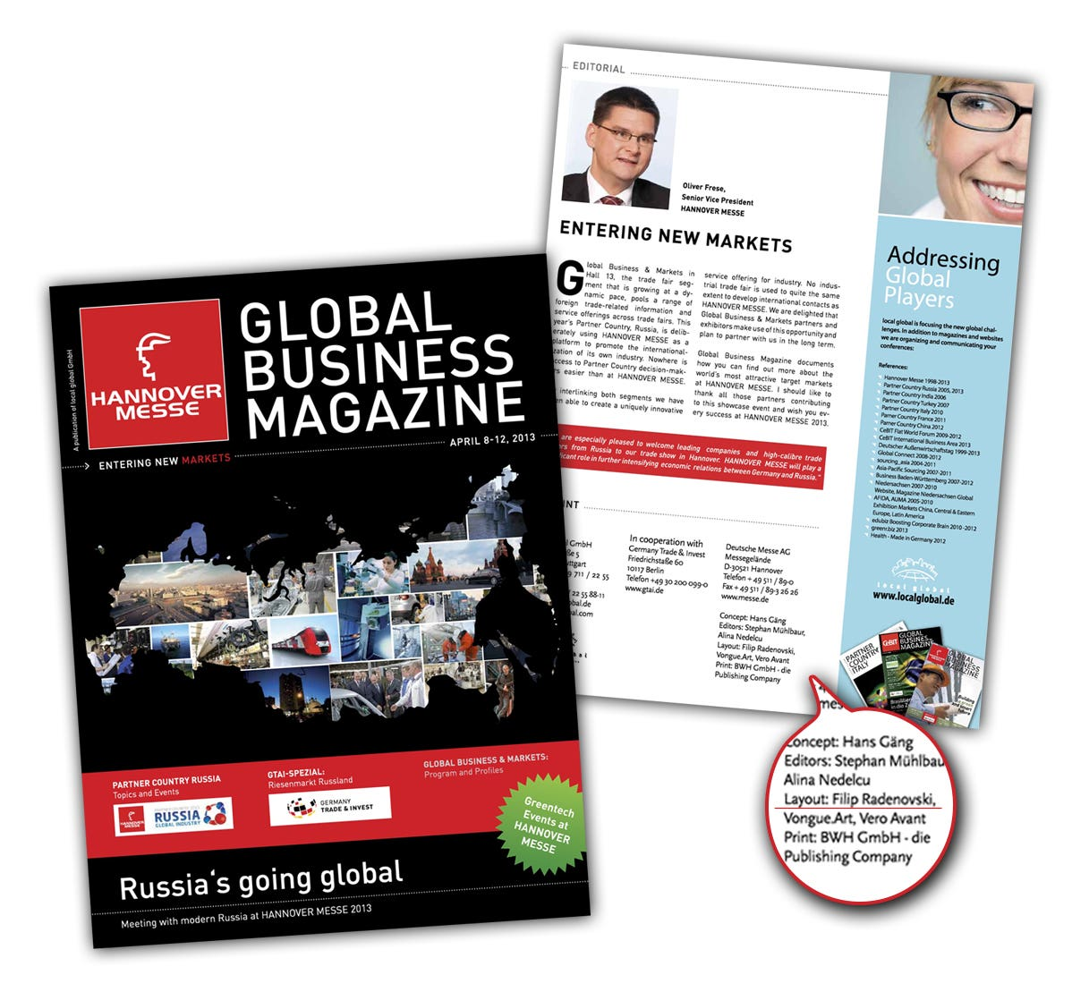 Global Business Magazine - Layout Creation and Print ready