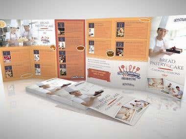Leaflet for a Cooking school