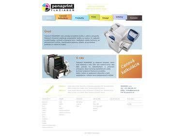 Penaprint web design