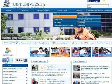 GIFT University Site Modifications