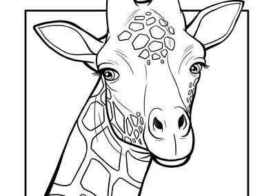 Coloring Page ( Real Animal )