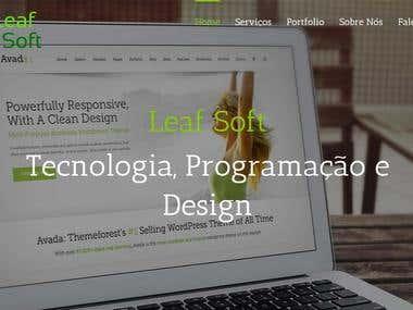 Site da Leaf Soft
