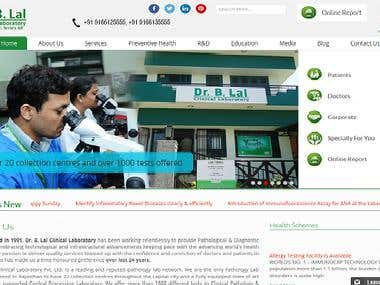 Website for Laboratory