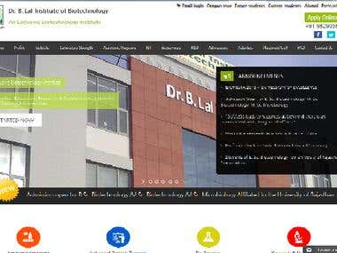 Website for Institute
