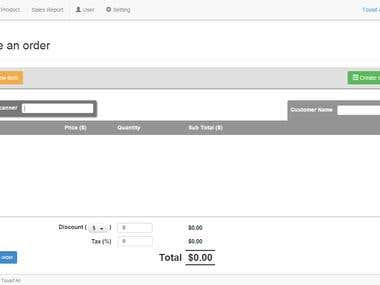 Point of Sale - Web Application