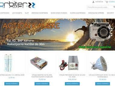 Magento Web shop
