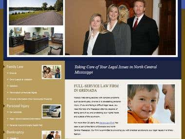 PSD to HTML Law Firm Website