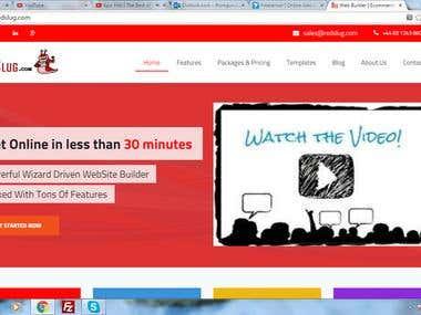 Redslug automated website hosting and building aplication