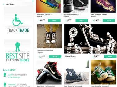 Website Design Template For Shoes Trade