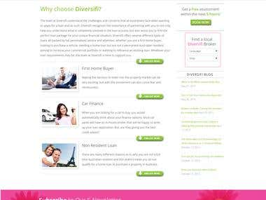 Wordpress based customized Financial Consulting website