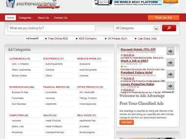 Classified Ads Website in Wordpress