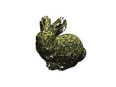 3D Exploding Bunny using OpenGL Tesselation