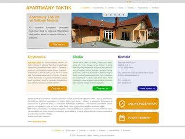 Apartman Taktik web design