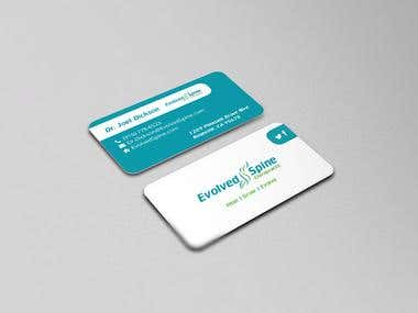Evolved Spine Chiropractic - Business Card