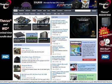 Gaming News Website in Joomla