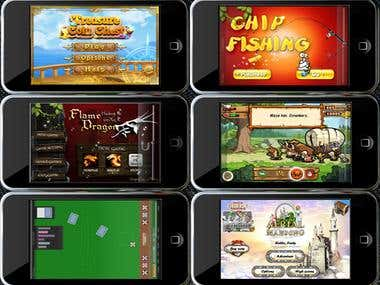 iPhone/Android game, Apps, mobile Web