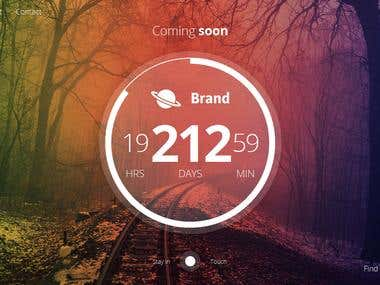 Beautiful & Creative Coming Soon Template