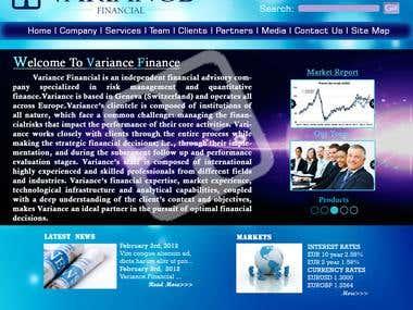 Wordpress Theme Design for Variance Financial