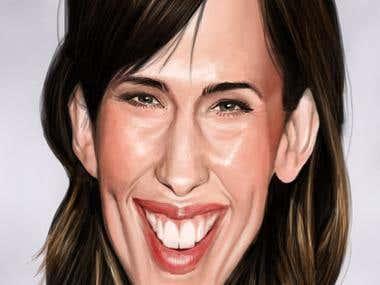 Caricature of Jenifer Garner