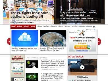 Technology Website in Wordpress