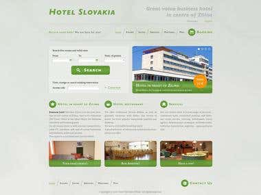 Hotel Slovakia web design