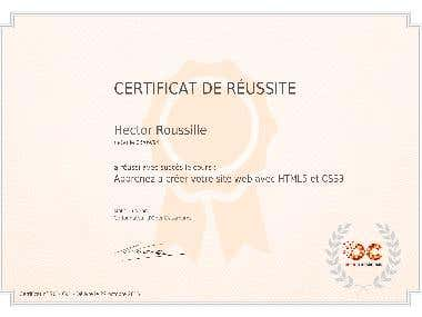 Certification HTML5 & CSS3