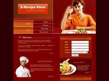 E-Recipie Store