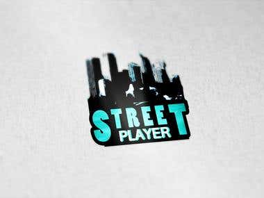 Street Player Logo Graphic Design