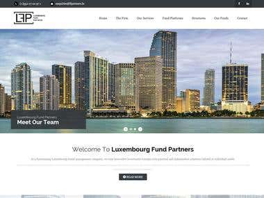 Website for company in the Financial sector