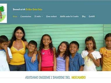 Wordpress website for children onlus