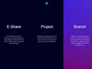 Project Sharing Website
