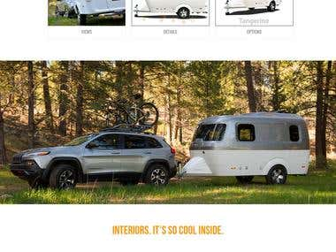 Nestcaravans single page website