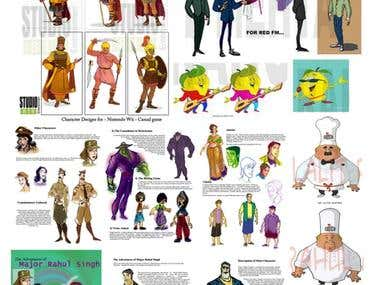 character designing for animation and games