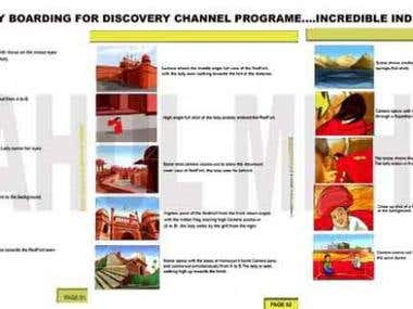 story board for - Discovery channel - Incredible india