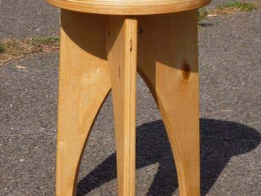 plywood serial stool