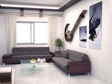 Drawing room Design and render