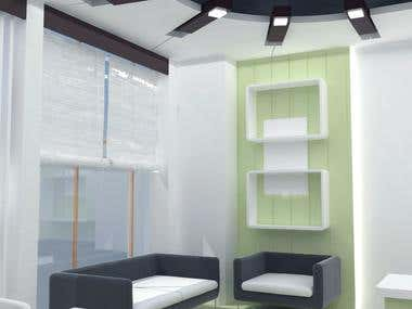 Interior design within small space