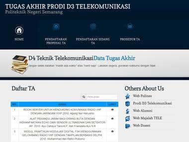 Website Tugas Akhir(thesis) Polytechnic University Semarang
