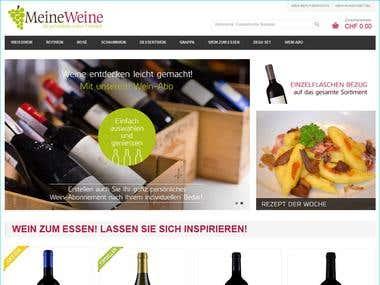Magento based online Wine shop | Responsive Design