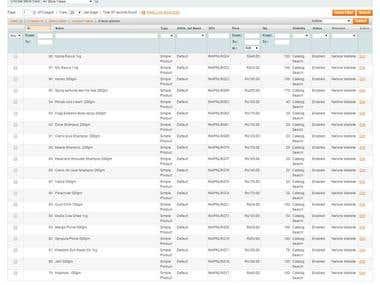 Magento product uploading